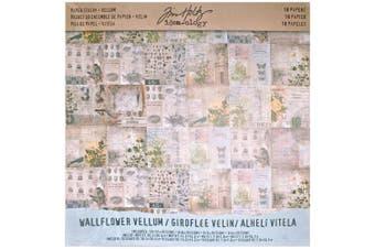 (12x12 Vellum) - Idea-Ology Vellum Paper Stash 30cm x 30cm 18/Pkg