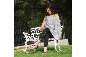 (Best) - Bebe au Lait Premium Cotton Nursing Cover, Lightweight and Breathable Cotton, Open Neckline, One Size Fits All - Nest