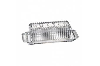 Artland Tasty Pantry Rectangular Glass Butter Dish, 19cm x 7cm