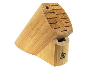 Shun DM0830 Bamboo 13-Slot Knife Block
