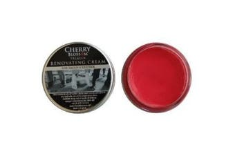 (Lipstick Red) - Cherry Blossom Renovating Cream For Leather Shoes, Boots, Bags, Belts and Other Accessories (Various Colours Available)