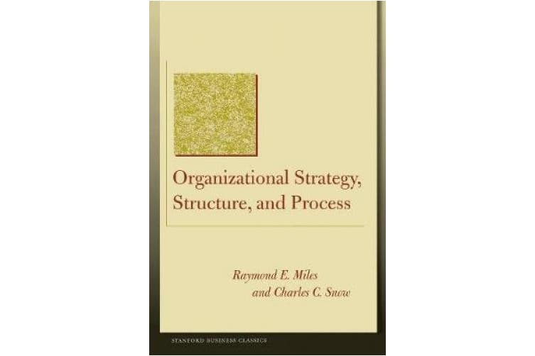 Organizational Strategy, Structure, and Process (Stanford Business Classics)