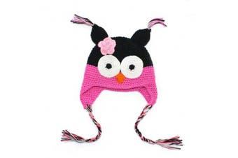 (3#) - Owl Beanie Knitted Hat - For Baby & Toddler - Lovely and Cute - Multiple Colours (3#)