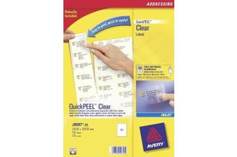 Avery J8567-25 Parcel Labels Clear (A4 Sheets of 210 x 297 mm, 1 Labels per Sheet, 25 Sheets)