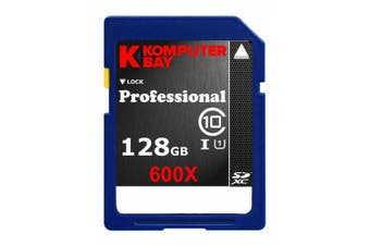 (128GB SDXC 600X) - Komputerbay 128GB SDXC Secure Digital Extended Capacity Speed Class 10 600X UHS-I Ultra High Speed Flash Memory Card 60MB/s Write 90MB/s Read 128 GB