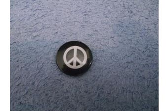 Black And White CND Peace 25mm Pin Lapel Button Badge