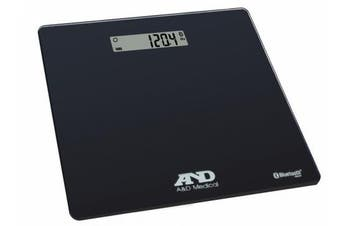 A & D Medical Deluxe Connected Weight Scale, Black