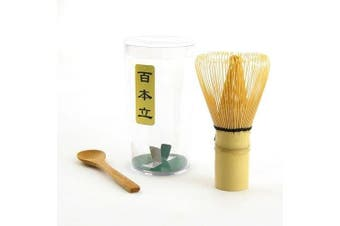 (Bamboo Whisk + Spoon) - Chasen (Matcha Tea Whisk) and Small Spoon for preparing Matcha -MatchaDNA Brand