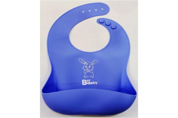 (Blue-Bunny) - Best BIB for Baby - Soft Bib (Blue-Bunny)