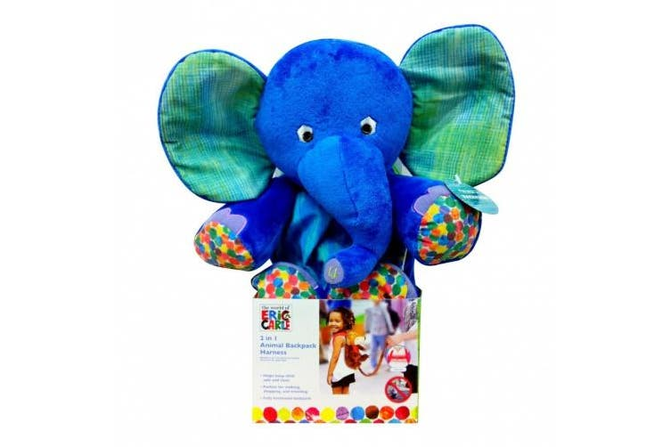 (Elephant) - Eric Carle The Very Hungry Caterpillar Backpack Harness, Elephant, Polyester, Elephant Backpack, Children's Backpack, Blue