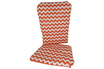 (Orange) - Baby Doll Chevron Rocking Chair Pad, Orange