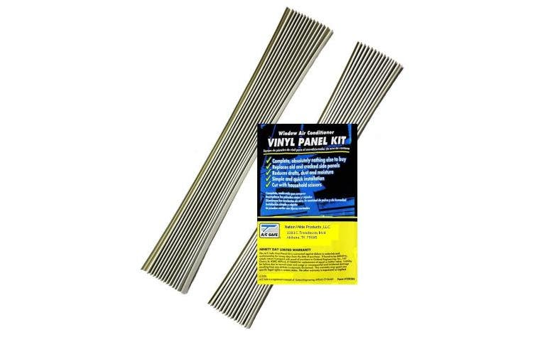 (1) - Air Conditioning Window Unit Replacement Vinyl Accordian Side Panel Kit