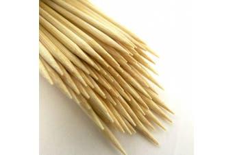 """(1000, 20cm ) - BambooMN Brand Premium Round Bamboo Skewers 7.9"""" X 3mm - 1,000pc"""