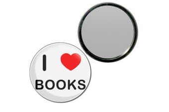 (77mm) - I Love Books - 77mm Round Compact Mirror