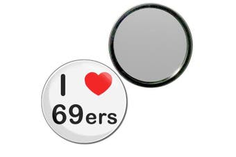 (55mm) - I Love 69ers - 55mm Round Compact Mirror