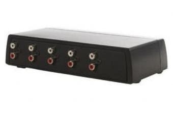 4 Port RCA Audio Switch - Manual Switching (BY CABLES 4 ALL)