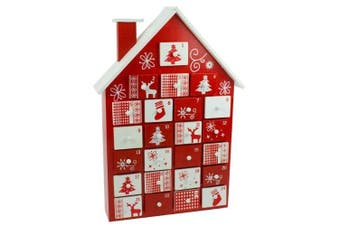 Nordic Style Wooden House Advent Calendar