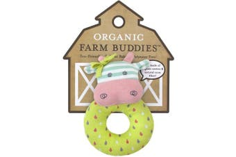 (Belle the Cow) - Organic Farm Buddies Rattle, Belle the Cow
