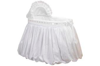 (White) - Baby Doll Pretty Ribbon Bassinet Bedding Set, White