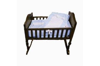 Baby Doll Royal Cradle Bedding Set, Blue