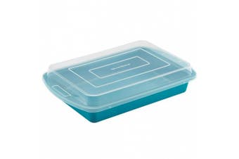 (Marine Blue) - SilverStone Hybrid Ceramic Nonstick Bakeware Covered Cake Pan, 23cm x 33cm , Marine Blue