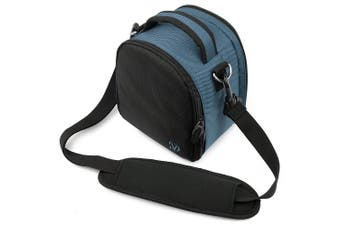 Vangoddy VGLaurelDBLU Laurel DSLR Camera Case with Removable Shoulder Strap (Dark Blue)
