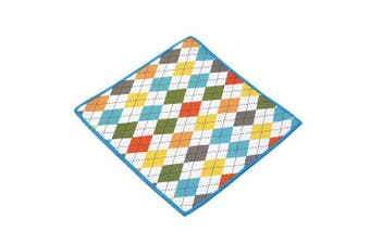 (Spring Argyle) - Carson Double Sided Microfiber Cleaning Cloth