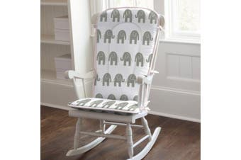 Pink and Grey Elephants Rocking Chair Pad