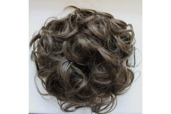 (brown #10 D5) - PRETTYSHOP BUN Up Do Hair Piece Hair Ribbon Ponytail Extensions Draw String Scrunchy Scrunchie Curly or Messy Different Colours