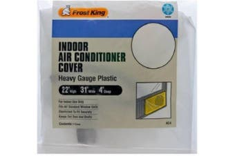 (1) - Frost King AC4 Inside Window Air Conditioner Cover, 3mil