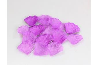 1000 Silk Rose Petals Lapis Deep Purple