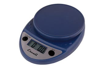 (Navy Blue) - Escali Primo P115NB Precision Kitchen Food Scale for Baking and Cooking, Lightweight and Durable Design, LCD Digital Display, Lifetime ltd. Warranty, Royal Blue