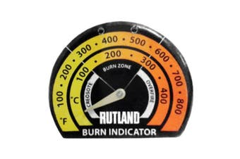 Rutland Products Stove Thermometer/Burn Indicator, Metal Multi-Colour, 1.59 x 10.79 x 14.92 cm