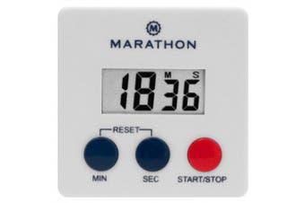 MARATHON TI080006 Digital 100 Minute Timer w/ Magnetic Clip - White