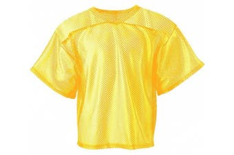 (XX-Large, Gold) - A4 Boys Youth Football All Porthole Practise Jersey
