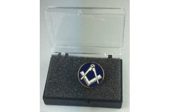 Masonic Crest No G Large Round Gold Plated Enamel Lapel Pin Badge In Gift Box