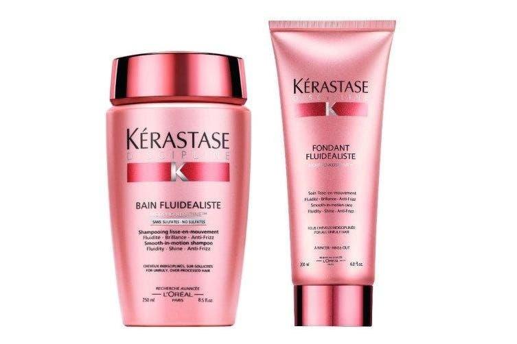 Kérastase Discipline Sulphate Free Shampoo 250ml & Fondant Fluidealiste (Shampoo & Conditioner) 200ml
