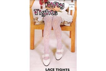 (Size 0-12 month) - Baby girl lacy tights in WHITE - sz 0-12 mths