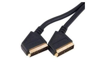 Cable-Core Scart to Scart 21 pin Gold Cable 1.5 m Lead