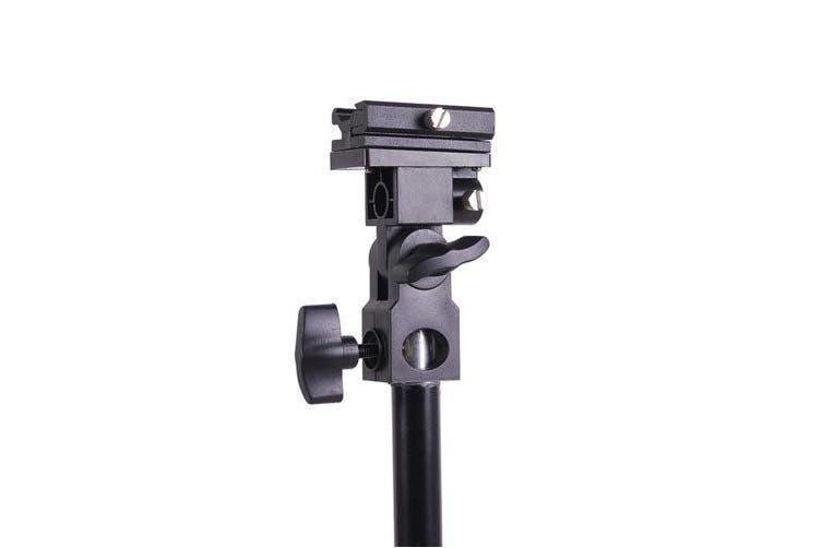 Kaavie Universal Swivel Hot Shoe Flash Holder Type B for Light Stand with Umbrella Lock