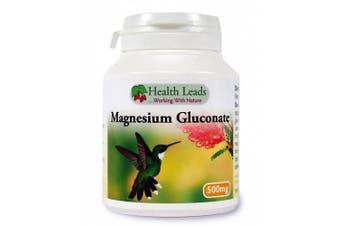 Magnesium Gluconate 500mg x 90 capsules (100% Additive Free)