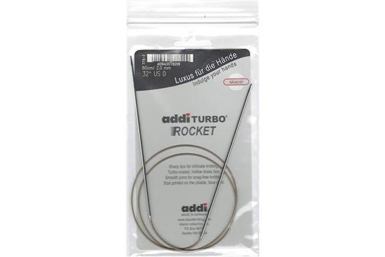 (Size US 0 (2.00 mm)) - addi Turbo Sock Rockets 32-inch (80cm) Circular Knitting Needle; Size US 0 (2.00 mm)