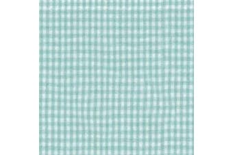 (14 x 30, green gingham) - Green Gingham Moses Basket Sheet- Size: 14 x 30