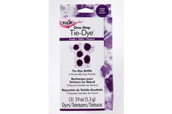 (Purple) - Tulip One-Step Fashion Dye Refill .1330ml-Purple