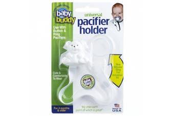 (White) - Baby Buddy Universal Pacifier Holder, White