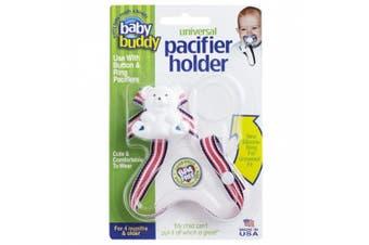 (Navy Geranium Surfboard) - Baby Buddy Universal Pacifier Holder, Navy Geranium Surfboard
