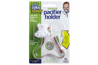 (Beach Blanket) - Baby Buddy Universal Pacifier Holder Clip - Snaps to Paci or Attach with Universal-Fit Silicone Ring - Pacifier Clip for Babies 4+ Months/Toddler Boys & Girls, Beach Blanket