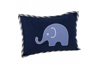Elephants Blue/Grey Dec Pillow