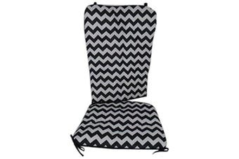 (Black) - Baby Doll Chevron Rocking Chair Pad, Black