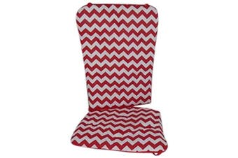 (Red) - Baby Doll Chevron Rocking Chair Pad, Red